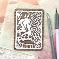 Handdrawn Handcut Papercut Art ATCs