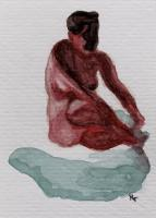 Seated Red Study
