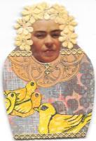 Frida Doll with Yellow Birds