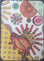 Whimsical Colourful Animal Wearing a Crown for GwennieJo