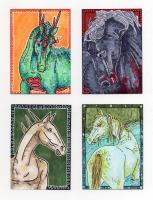 Mythical Horse ATC's