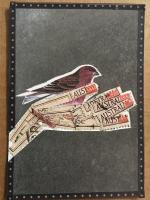 altered postage stamp atc