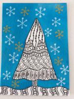 Zentangle Christmas trees