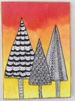 Zentangle Christmas trees