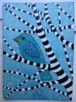 Birdie in zetti branches
