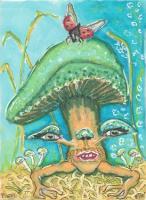 Mushroomcreature green hat