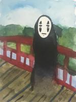 Noface on a Bridge