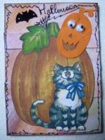 ATC4697 Halloween Cat