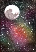 Moon & Galaxy