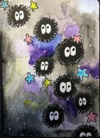 Whimsical Galaxy Themed Art