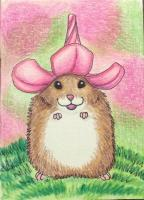 Mouse with a Flower Hat