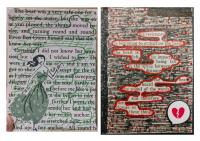 Blackout poetry ATCs