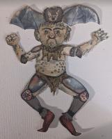 Winged Halloween Paper Dolls
