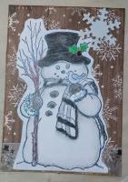 brown snowman