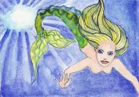 funky colourful mermaids