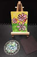 Blossom ATC and Stained-Glass Window Coin