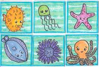 Sea Creatures Inchies