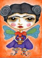 Frida with wings