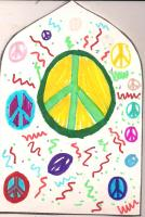 Peace signs gothic arch by Audrey age 11