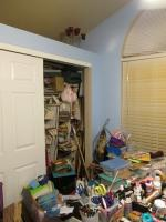 Progress pics of art/craft room re-do