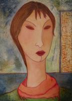 Imaginary Self-Portrait  la Modigliani