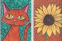 cat & sunflower