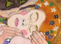 Detail of 'The Kiss' by Gustav Klimt