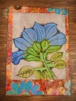 """Blue Flower on Tea Bag"""