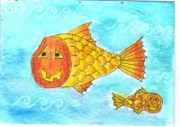 Pumpkin faced candy Corn Fish 2015-77