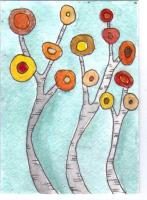 Autumn Trees for Whimsical Trees Swap