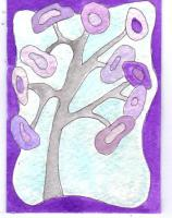Iced Purple Tree 129