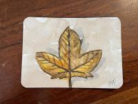 horizontal leaf