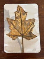 vertical fall leaf