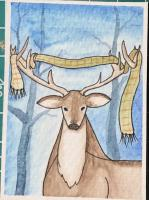 Tangled stag