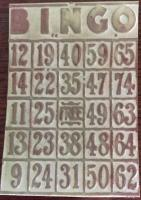 176 Old Bingo card
