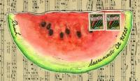 Watermelon Wedge Mail Art