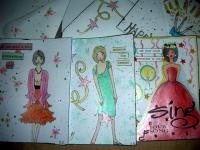paper doll cards with envelopes