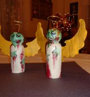 Zombie Angels for Nanner's Twisted Christmas Ornaments Swap