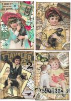 Vintage Kids with Animals Swap