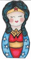 MMH Kokeshi Doll Wonder Woman