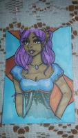 purple hair elf