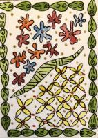 Zentangles and watercolor swap