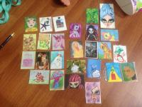 all of the MMH happy cards for Lucy's birthday