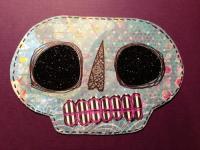 glitter eye skull