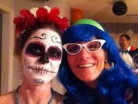 me and my buddy locatray (Laura) at her Halloween party