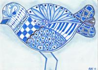 Zentangle Blue Sandpiper