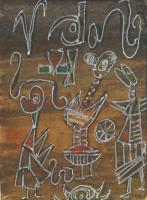 After Paul Klee - white monsters