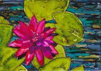 Waterlilies in alcohol ink