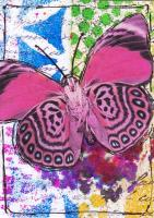 Earth Day athon 12 - Pink butterfly (on hold)