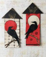 Crow Moo Houses in Red and Black